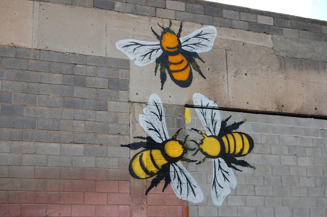 mural of honey bees