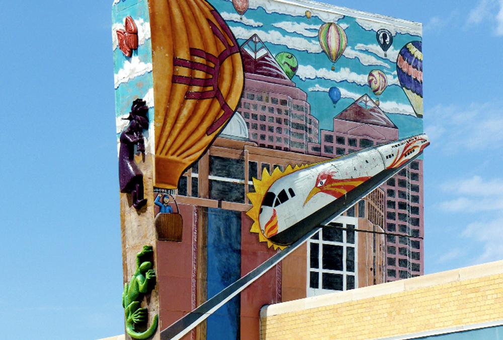 mural of balloon city