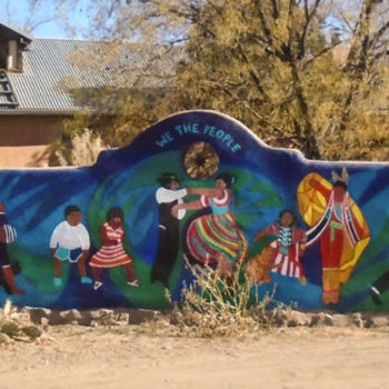 mural of the people on wall