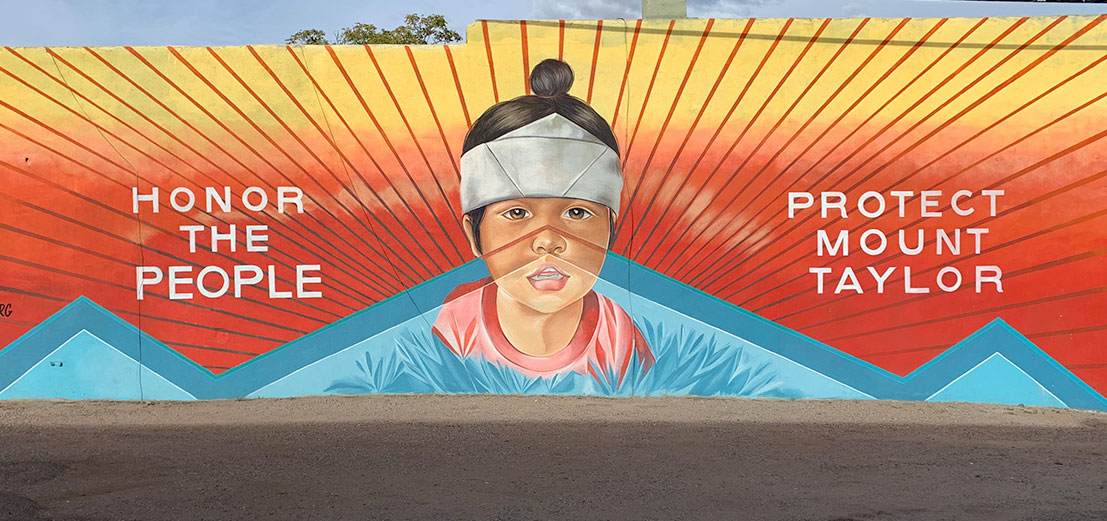 mural of little ninja on line designs