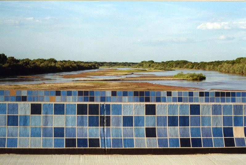 realistic painting of Rio Grande river on wall
