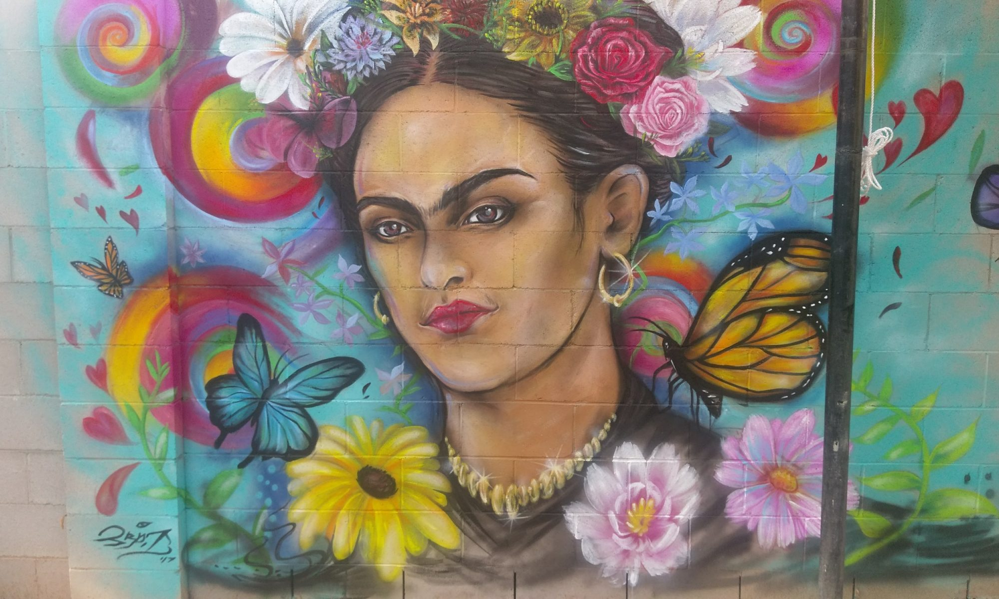 mural portrait of Frida Kahlo
