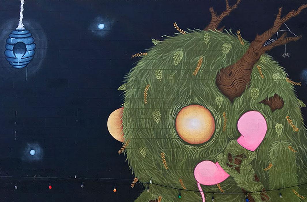 mural of woodland creature
